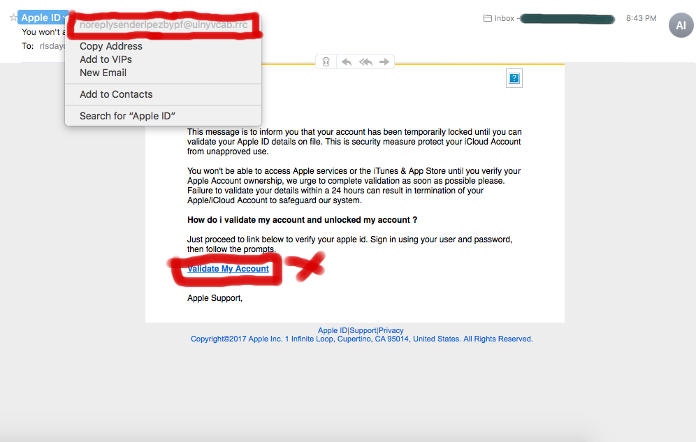 Attention Apple Users: Fake vs Real e-mails – Rona The Explorer